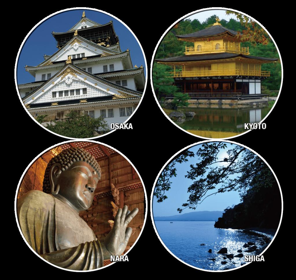francais tour. Osaka Kyoto Nara Kobe